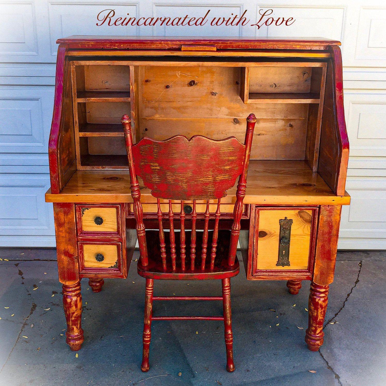 Solid Pine, Reclaimed Wood Desk, shabby chic, farmhouse