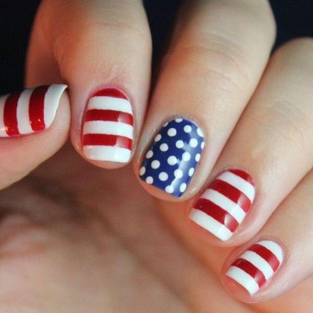 Happy 4th Of July Weekend We Love This Simple Patriotic Nail Art