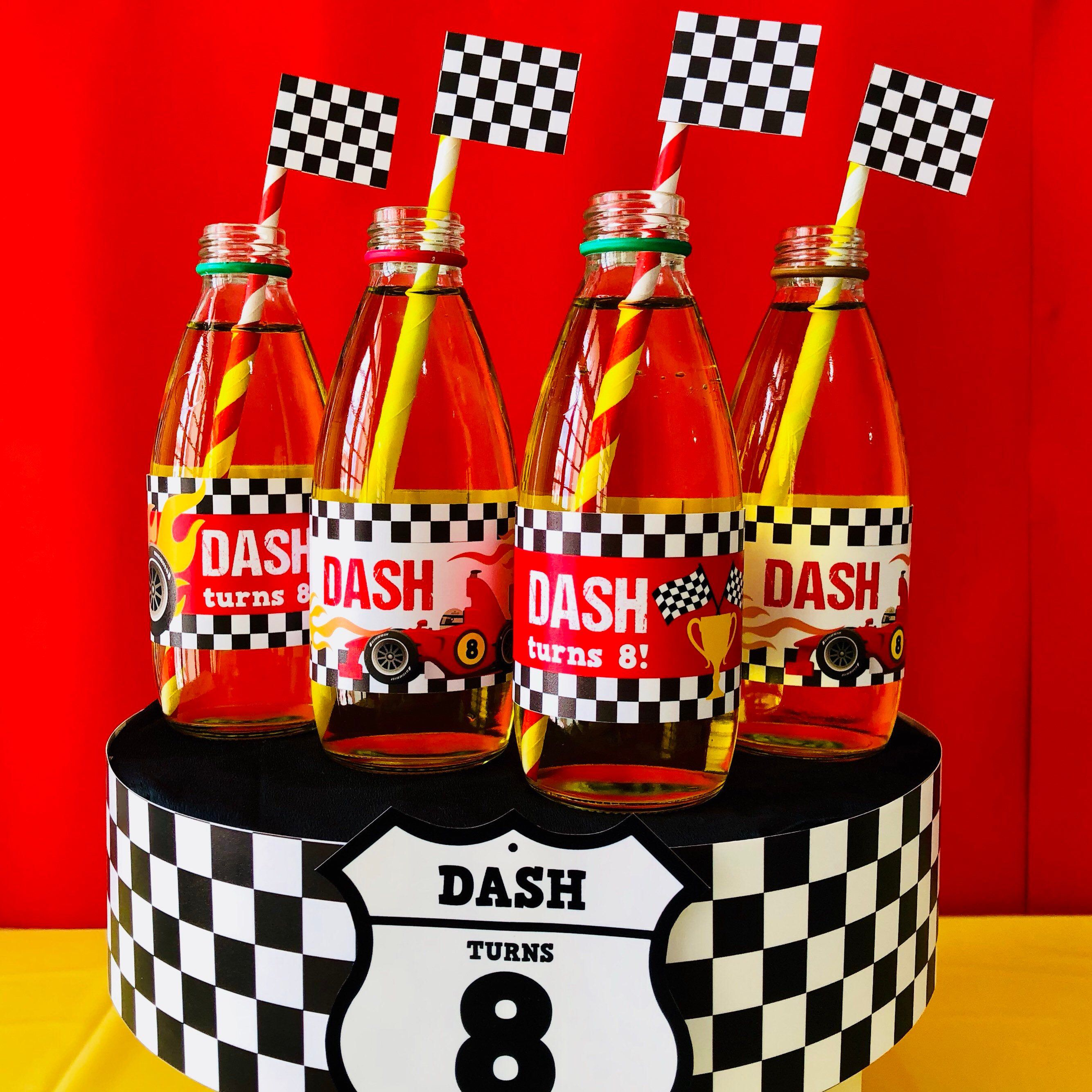Race Car Party EDITABLE Birthday Party Bottle Wrappers