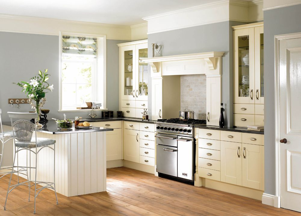 Wall Colour With Ivory Kitchen For Mom Would Tie In Nicely With The Colonial Col Shaker Style Kitchen Cabinets Shaker Kitchen Design Kitchen Cabinet Styles