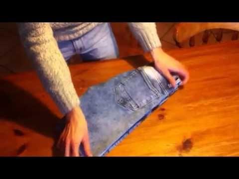 Como Doblar Un Vaquero How To Fold A Jean Konmari Youtube Konmari Vaquero Jean