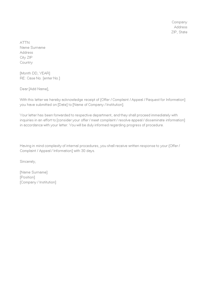 Receipt Of Goods Template Elegant 9 Free Receipt Acknowledgment Letters Word Pdf Excel Best Templates Templates Templates Printable Free