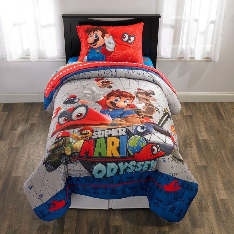 Nintendo Super Mario Reversible Comforter Set Comforters