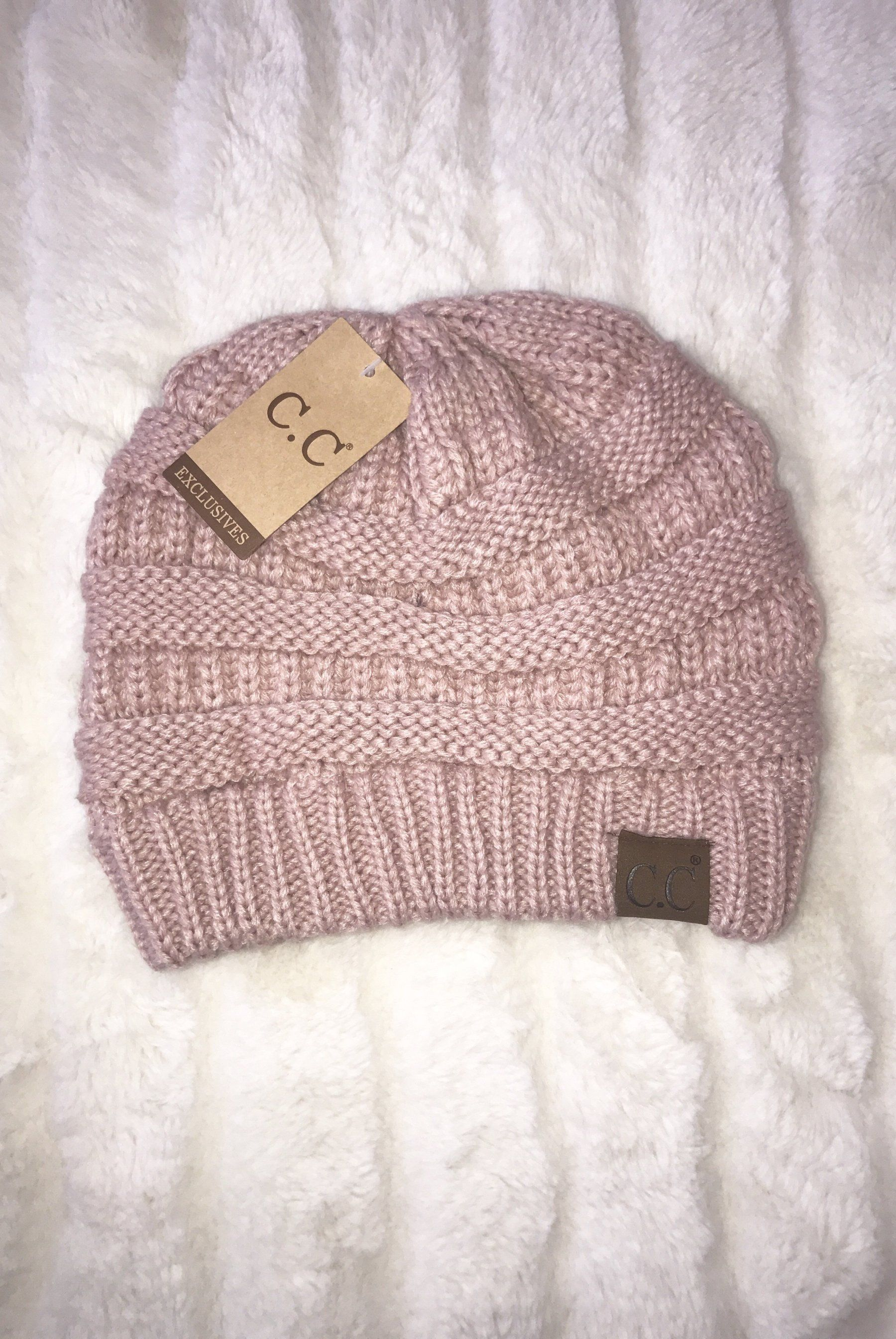1f53cb167ad88f C.C. Beanie (Rose) | Products | Beanie, Knitted hats, Knit beanie