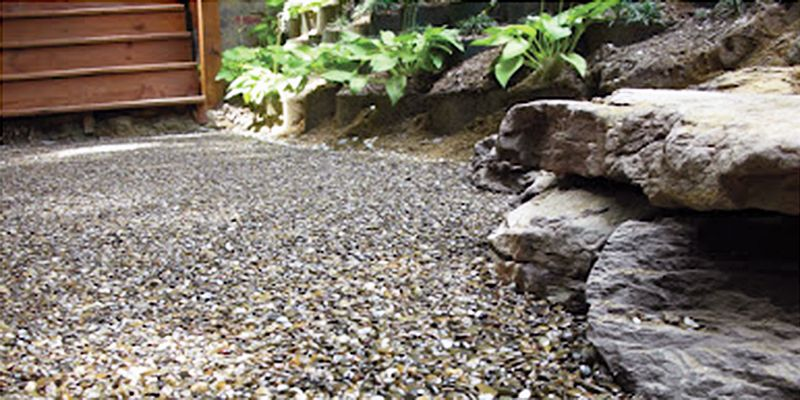 Green Roof Solutions Single Component Moisture Curing Liquid To Bond Together Pea Gravel Crushed Stone And Other Aggrega Gravel Patio Stone Walkway Hardscape
