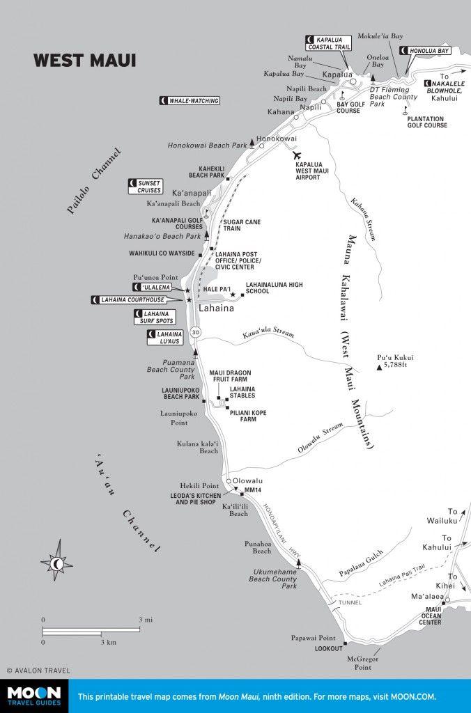 Snorkeling west maui kaanapali and lahaina moon pinterest map of west maui hawaii thecheapjerseys Choice Image