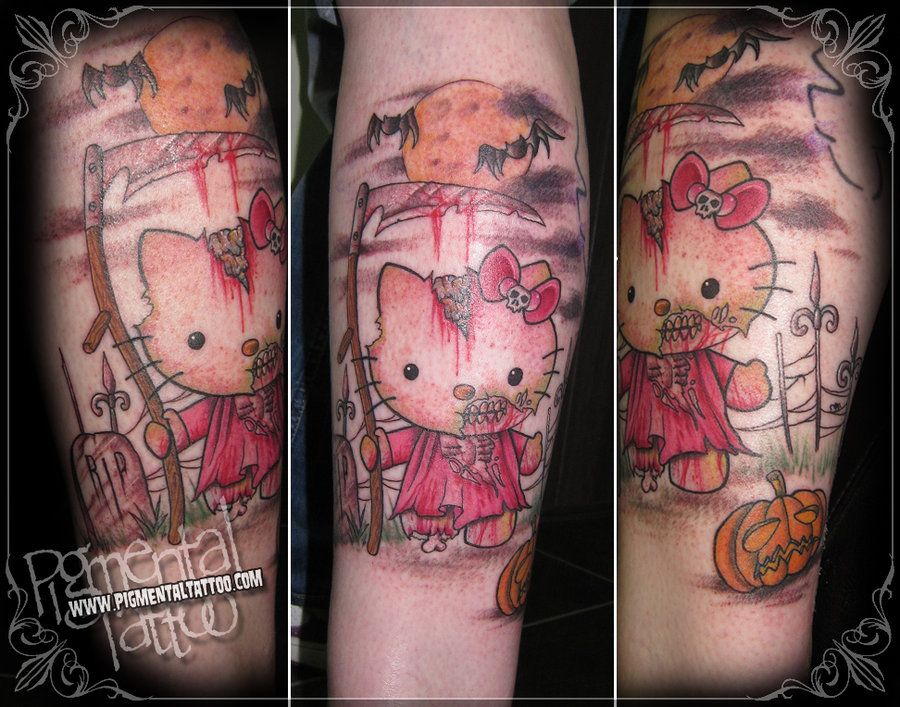 Pin On Hello Kitty Horror Tats