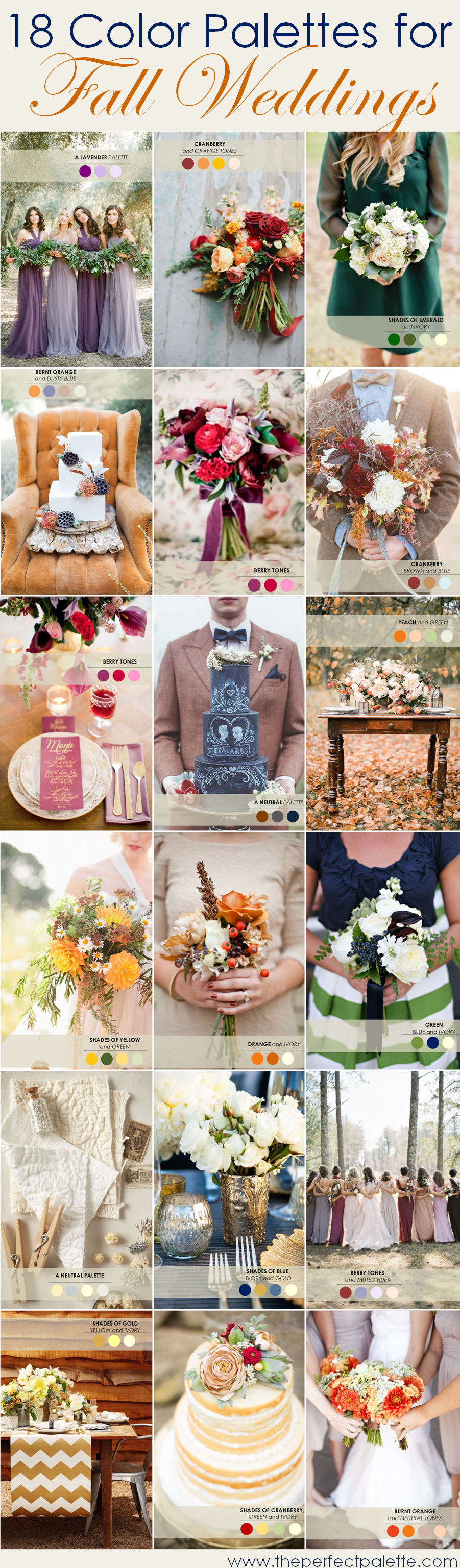 Emerald wedding decor ideas   Fall Wedding Color Palettes  The Ultimate Guide  Weddings