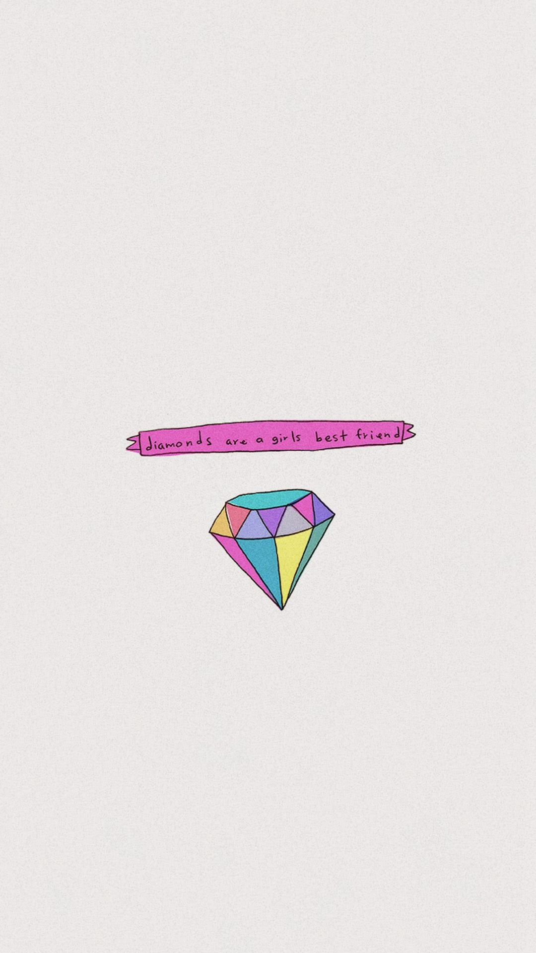 Diamonds Are A Girls Best Friend Iphone 6 Wallpaper Download Iphone Wallpapers Ipad Wallpa Iphone Wallpaper Hipster Best Friend Wallpaper Hd Cute Wallpapers