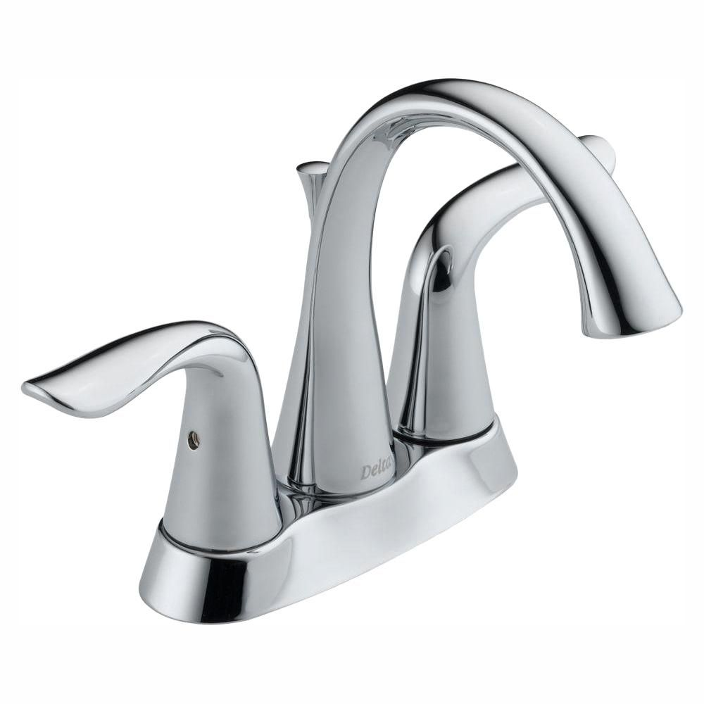 Delta Lahara 4 In Centerset 2 Handle Bathroom Faucet In Chrome