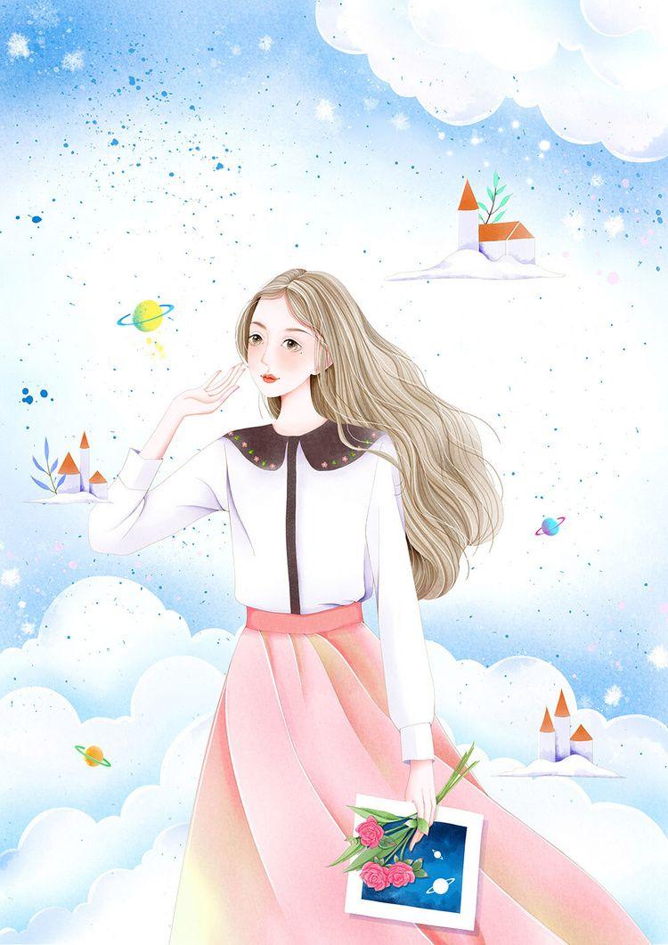 2019年上半年的小结 殊睫 原创作品 涂鸦王国插画 Cute cartoon girl