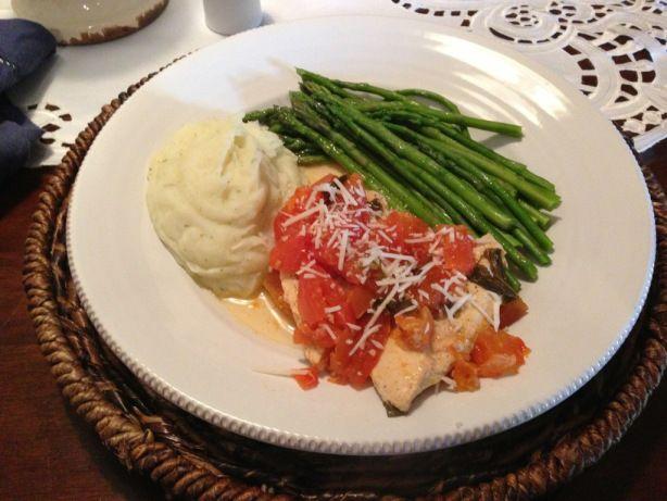 CrockPot Tomato Basil Chicken #maincourse