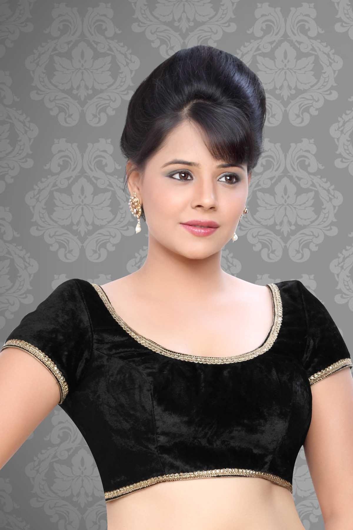 In this self designed #black designer #saree blouse for # ...