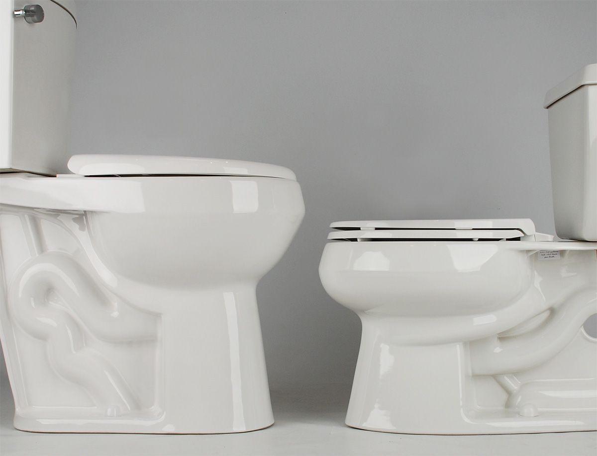 20 Inch Bowl Height Toilet Versus A 15 Inch Standard Height Toilet The Higher Bowl Provides Easier Access For The El Tall Toilets Toilet Closet Systems Design