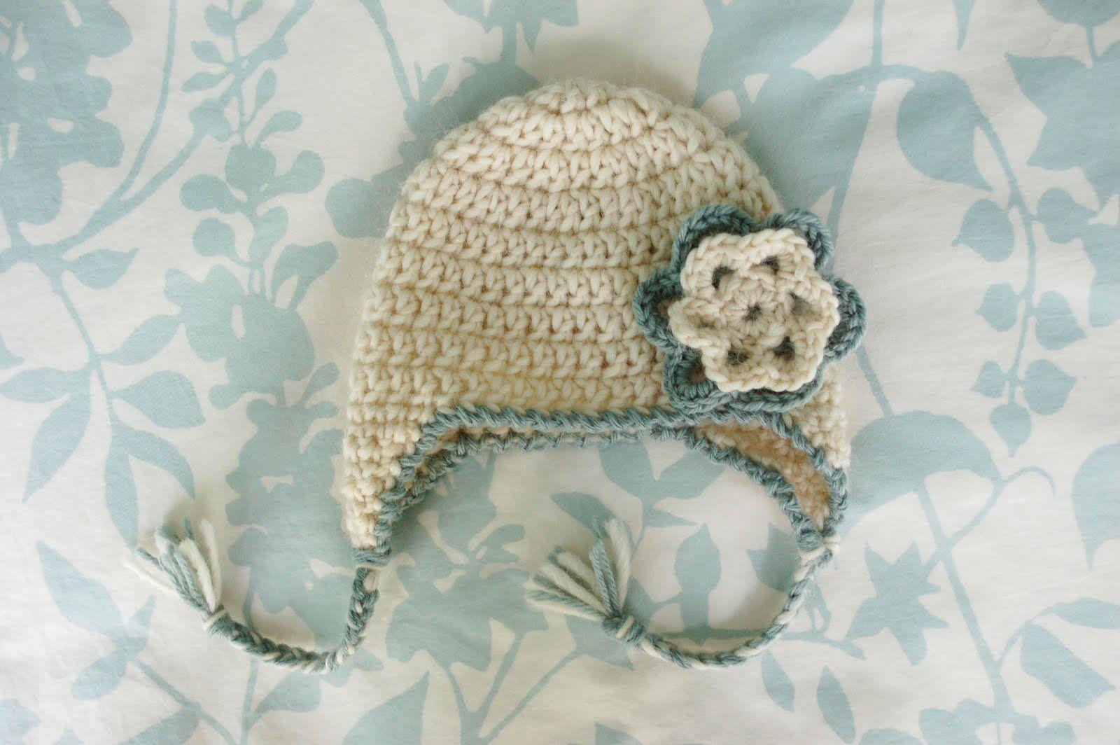 Alli Crafts: Free Crochet Pattern: Baby Earflap Hat - Newborn This ...