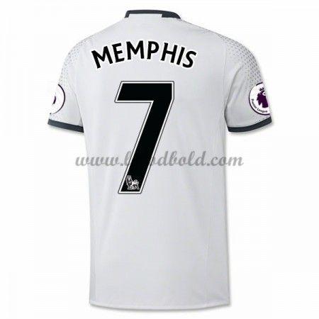 Billige Fodboldtrøjer Manchester United 2016-17 Memphis 7 Kortærmet Tredjetrøje