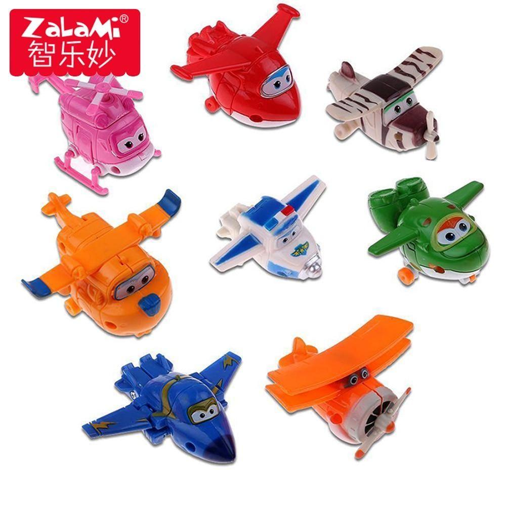 Donnie Jerome Ari Set 4pcs Super Wings MINI Transforming Planes Toy Hogi