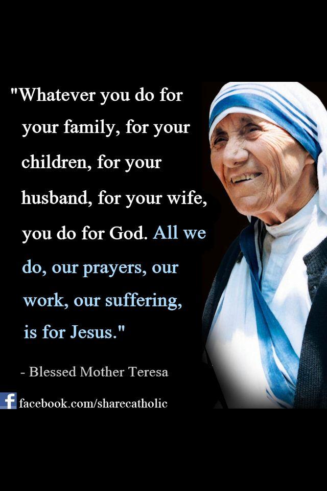 Mother Teresa...on discipleship | Mother teresa quotes ...