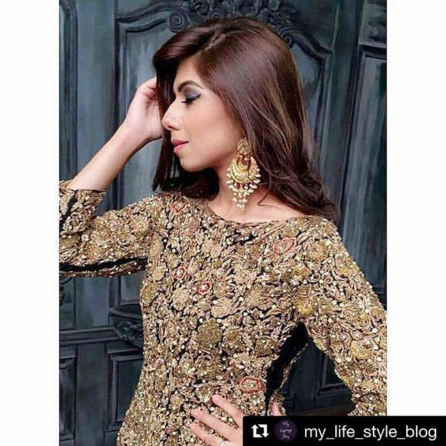 #Repost @my_life_style_blog with @repostapp ・・・ Close up of the supermodel @libahch18 rocking these beautiful #kundan balis by @al.amirahh! Just so gorg!😍👌🌟💖
