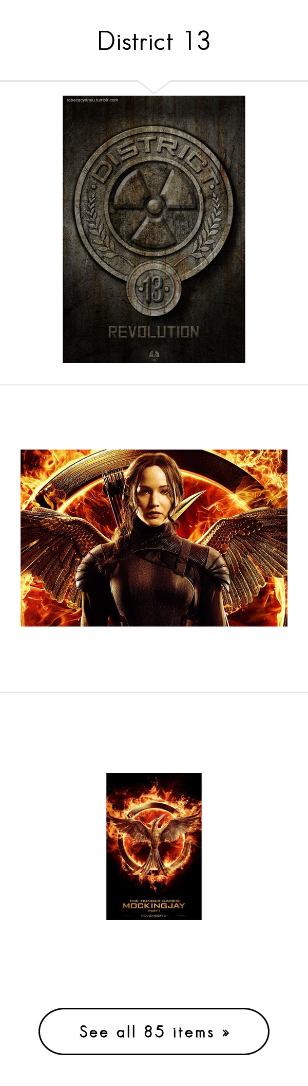 """""""District 13"""" by lillian-pandola ❤ liked on Polyvore featuring hunger games, fandoms, icons, people, pictures, backgrounds, the hunger games, pants, leggings and bottoms"""