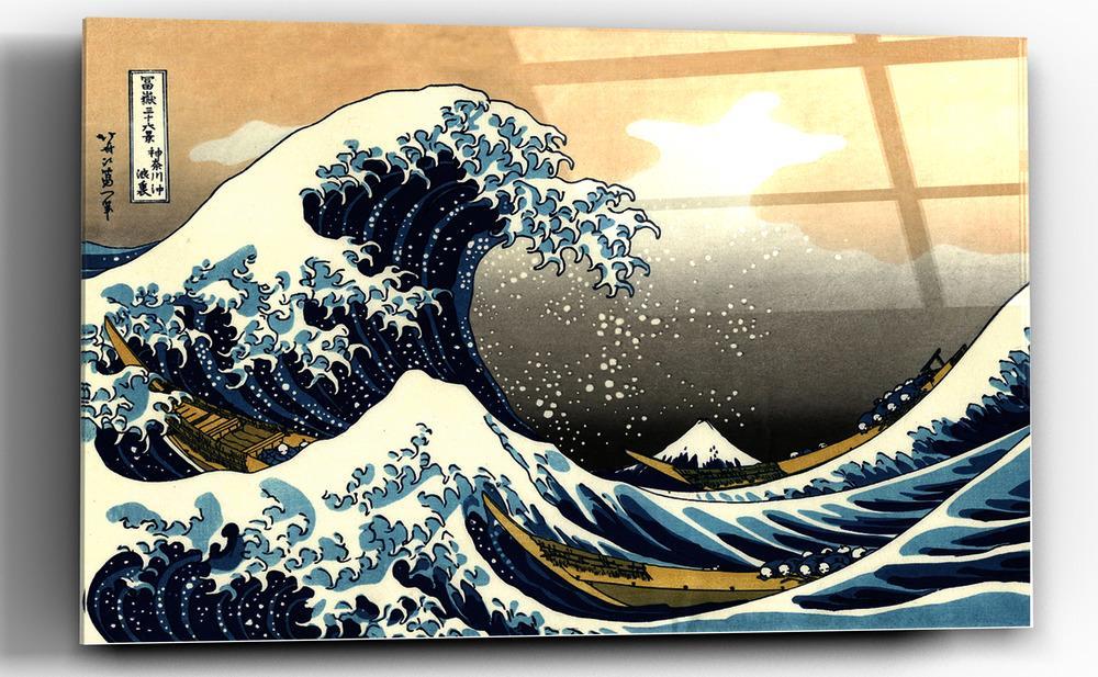 Epic Graffiti Great Wave Off Kanagawa By Hokusai Glossy Acrylic Wall Art 48 X 32 Ondas Arte Graffitis