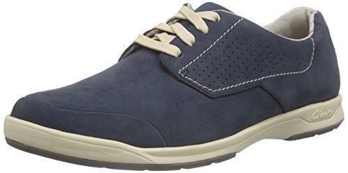Clarks ChilverWalkGTX - Zapatos con Cordones de Cuero Hombre, Color Marrón, Talla 43