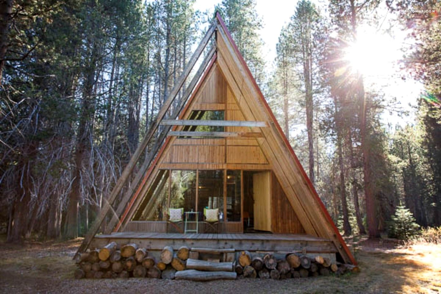 home rental deck house holiday a log cabin and cozy park ponderosa inside natl sequoia dreamtime in new unwind cabins national unplug w