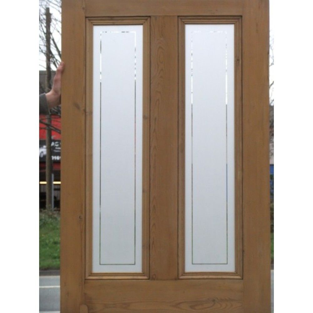 Frosted glass front door - House