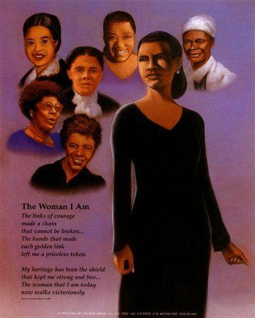 African American Christian Clip Art | Art Print - The Woman I Am ...