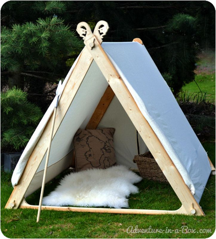 how to make a viking backyard play tent pinterest backyard play tents and backyard. Black Bedroom Furniture Sets. Home Design Ideas