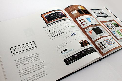 Portfolio Book by Dave Ashby, via Behance Design-Brochure Mailer - resume book
