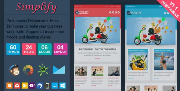 Simplify Professional Responsive Email Template Responsive Email - How to make responsive email template