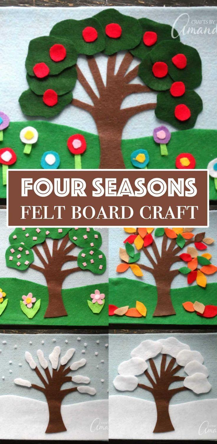 Felt Board Craft: 4 Seasons Felt Board Craft, grea...