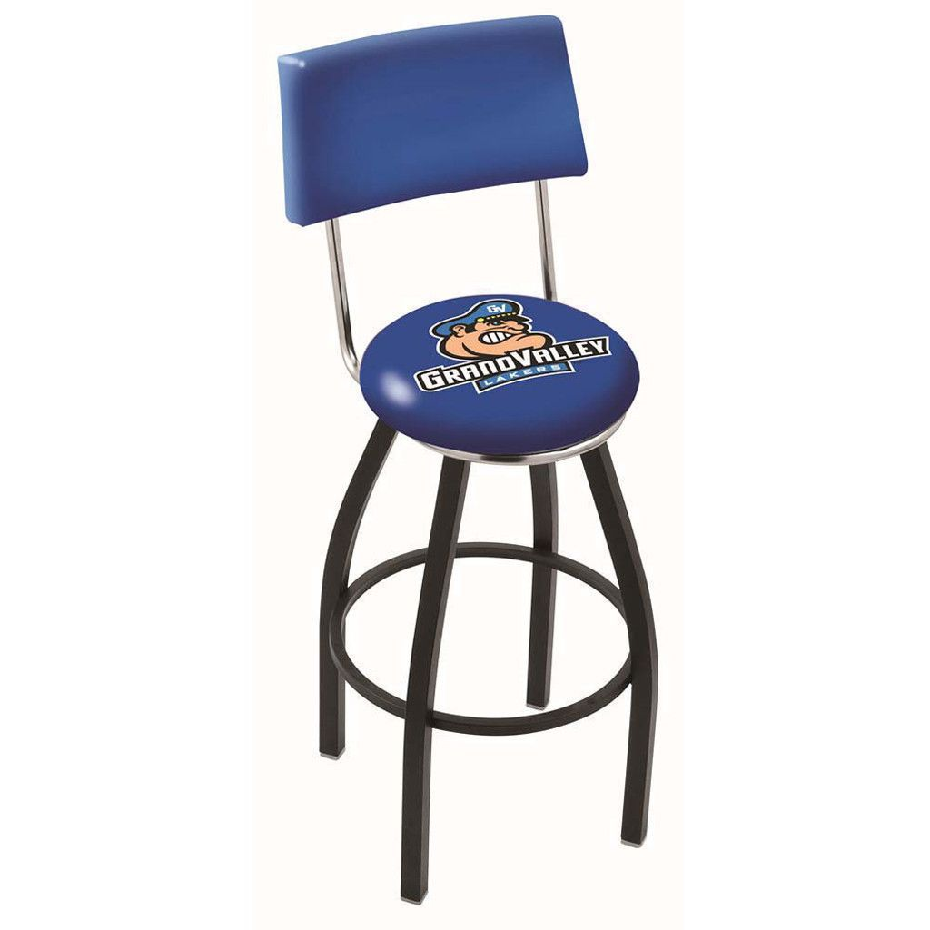 Chrome Grand Valley State Lakers Swivel Bar Stool w/ Back