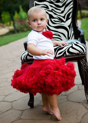 Red Pettiskirt {Check out those tippy toes!!!}
