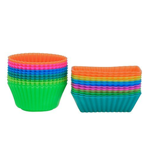 Outus Silicone Cupcake Cups Muffin Liner Baking Molds Round And