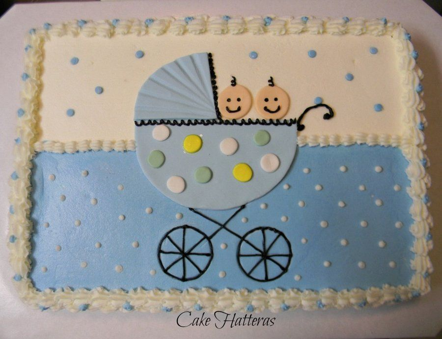 twin shower cake ideas  twin boy baby shower  by cakehatteras, Baby shower invitation