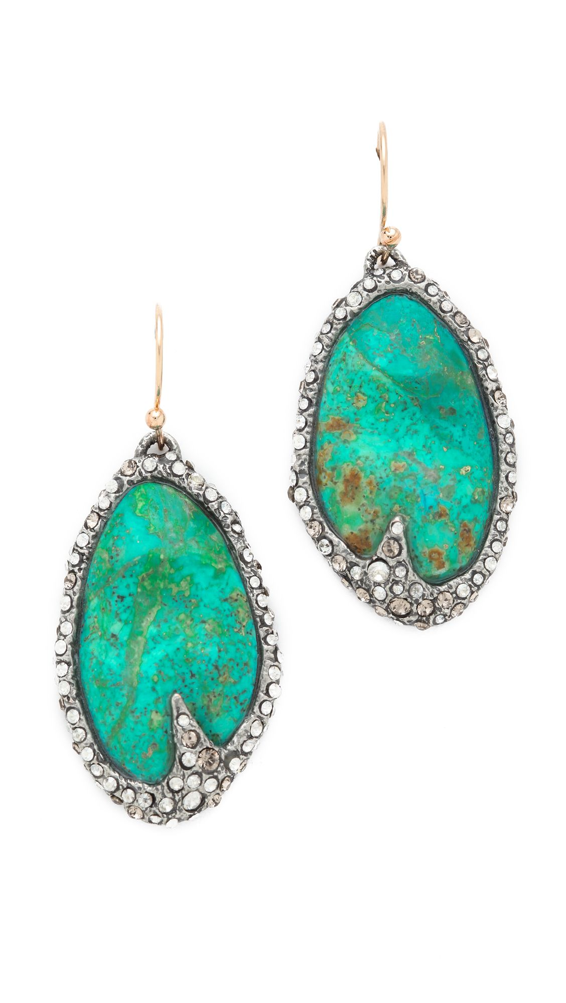 Alexis Bittar Earrings Blue Cordova Chrysocolla Jewelry