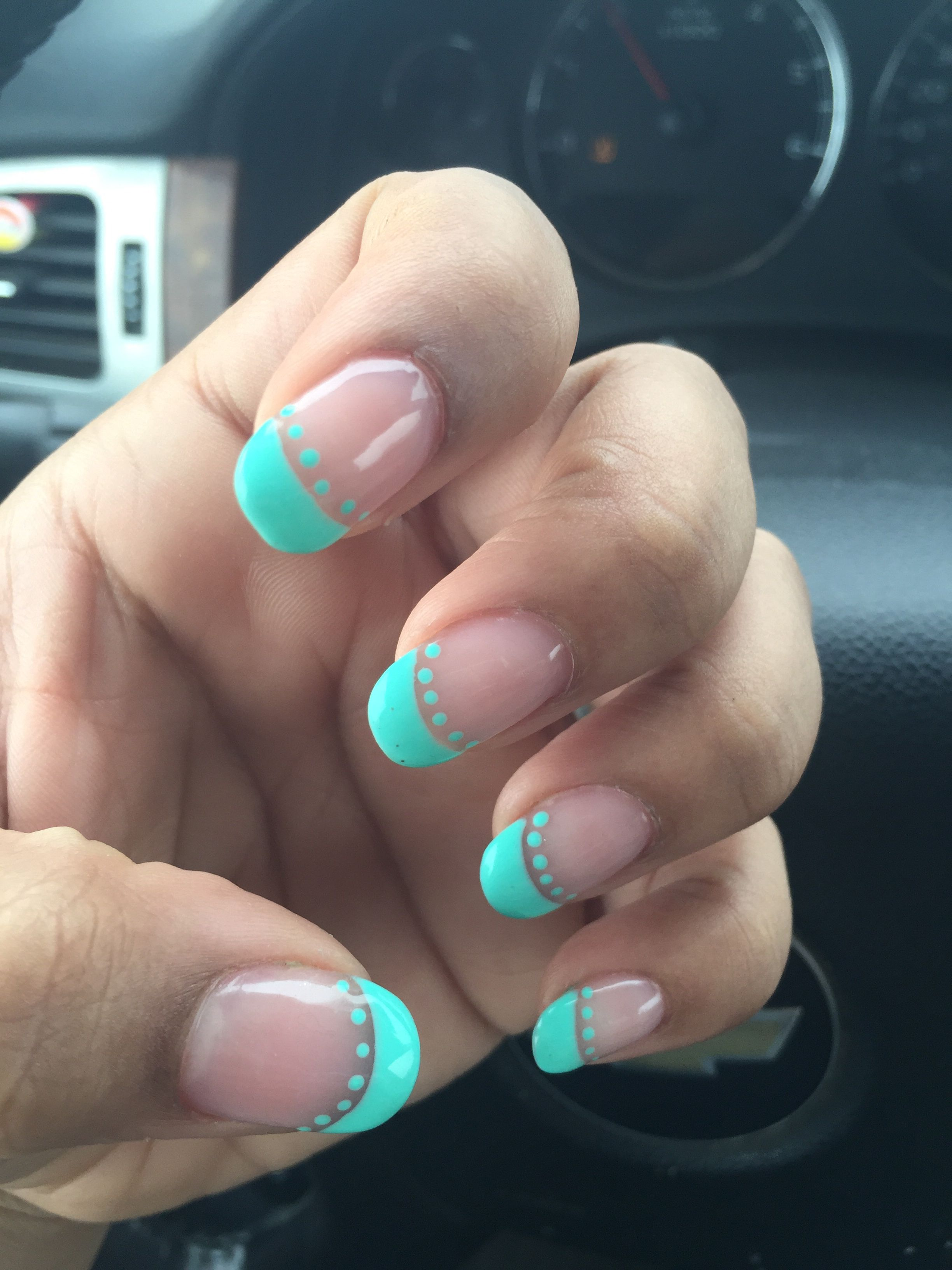 Mint green rounded nail design! - FANCY NAILS MINOT ND | Nails ...