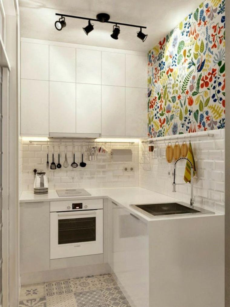 Amenagement Cuisine Petit Espace Deco Murale Tiny Kitchen Design Kitchen Design Small Small Apartment Kitchen