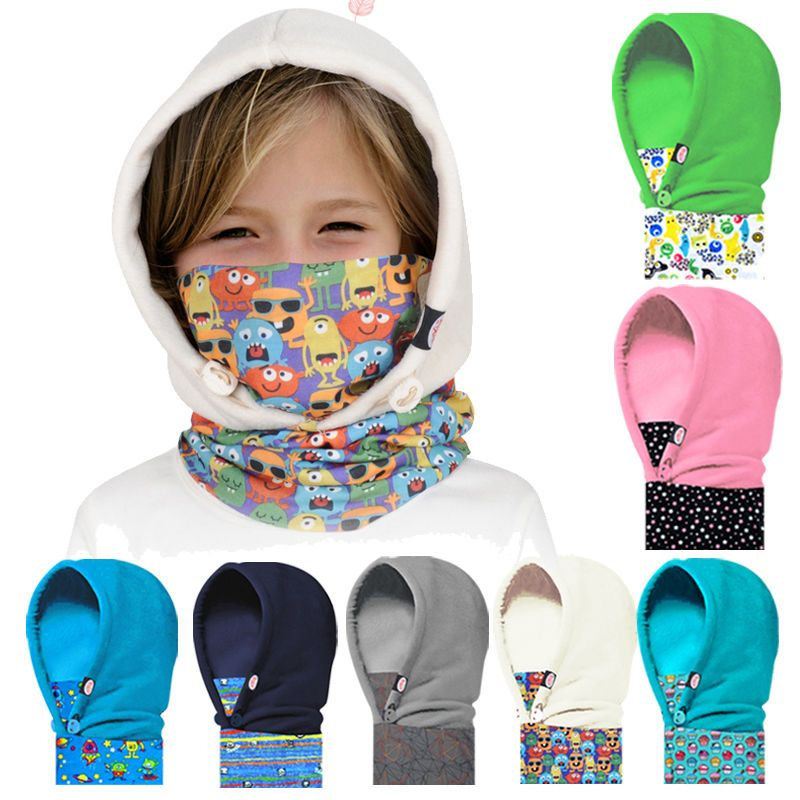 eaa102ef287 Winter Boys Girls Kids 2 in 1 Balaclava Ski Snowboarding Warm Hat Cap Face  Mask