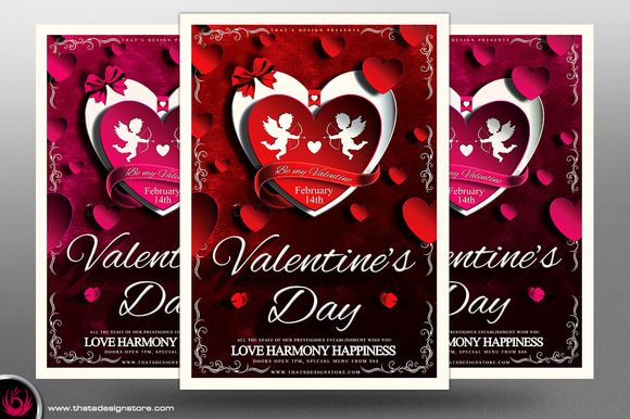 Valentines Day Flyer Template V3 Valentineu0027s day, Studios and - harmony flyer template