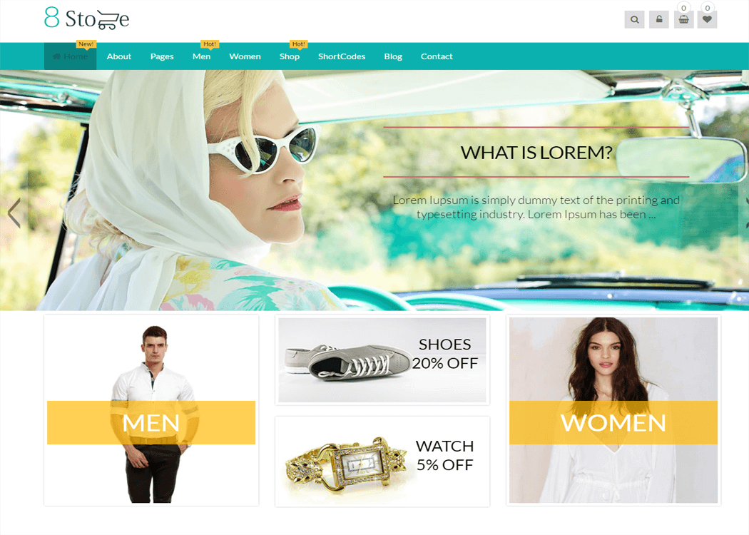 EightStore Pro - WordPress eCommerce Theme | Free and Premium ...