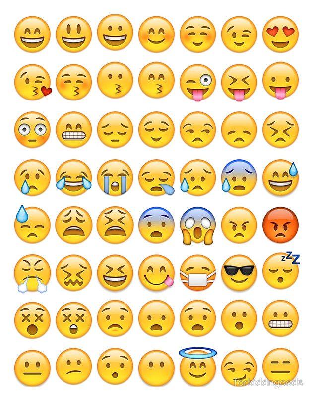 Emoji Poster By Forbiddngoods In 2020 Emoji Drawings Emoji Stickers Emoji Drawing