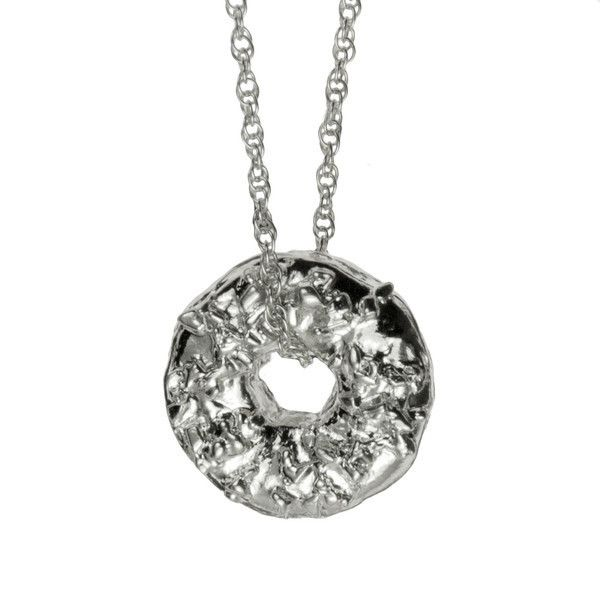Verameat Donut Necklace in sterling silver