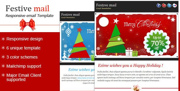 Festive  Christmas Newsletter Template  Christmas Newsletter