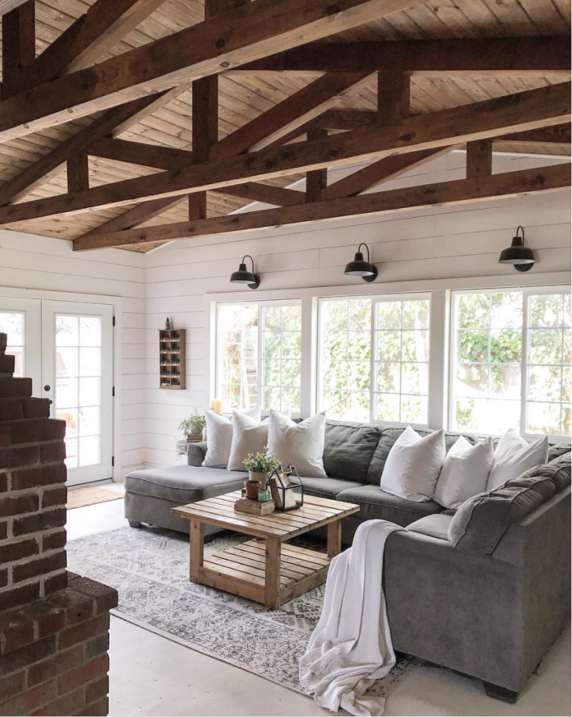 Pin On Country Home Design #rustic #lake #house #living #room