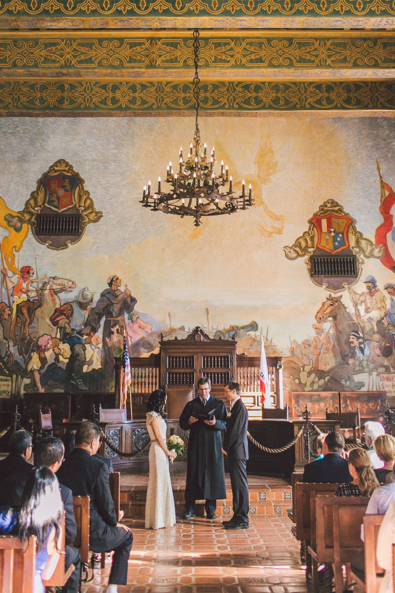 Santa barbara courthouse wedding wedding anna and photos for Mural room santa barbara