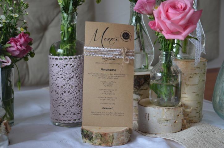 10 x men aufsteller men halter baumscheibe holz von majalino auf wedding. Black Bedroom Furniture Sets. Home Design Ideas