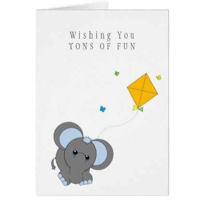 Cute Elephant Cartoon Birthday Card Birthday Gifts Party Celebration Custom Gift Ideas Diy Birthday Humor Cute Elephant Cartoon Birthday Cards